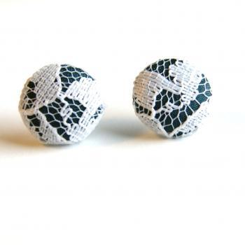 Fabric and Lace Earrings