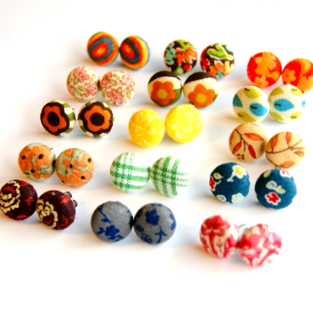 Design Your Own Fabric Stud Earrings Set Of Six